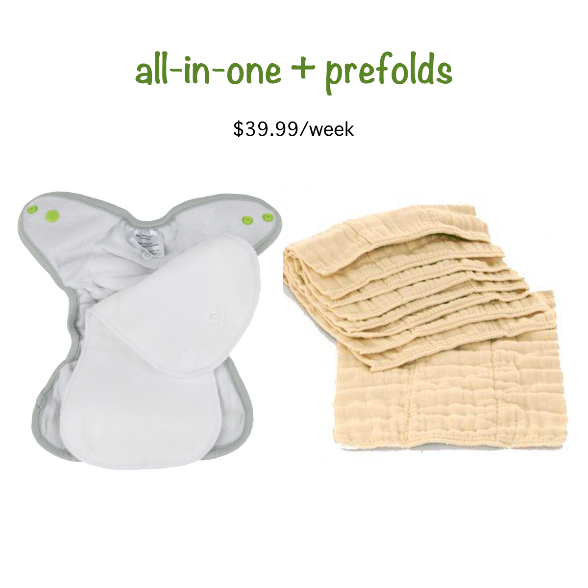 be6ba86f8dc4e All In One and Organic Cotton Prefold Diaper Service - 4 weeks