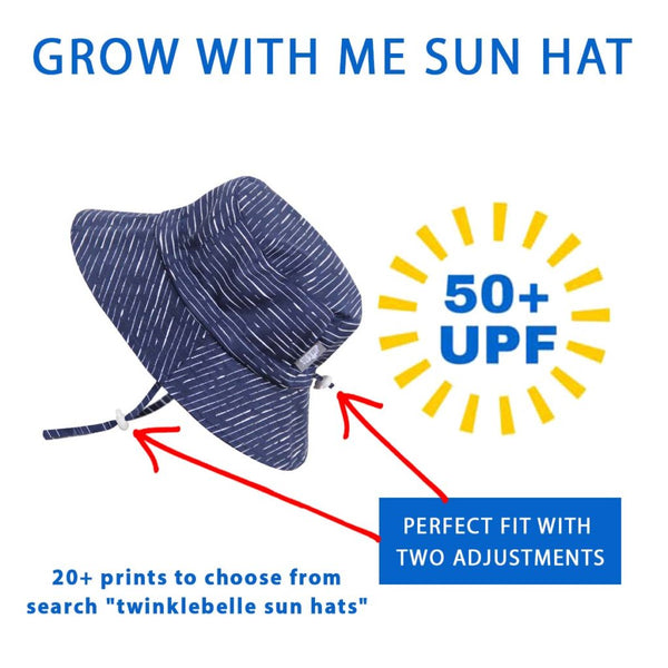 be2b9a32ad1 Twinklebelle - Sun Bucket Hat – 50+ UPF – Cotton – Adjustable