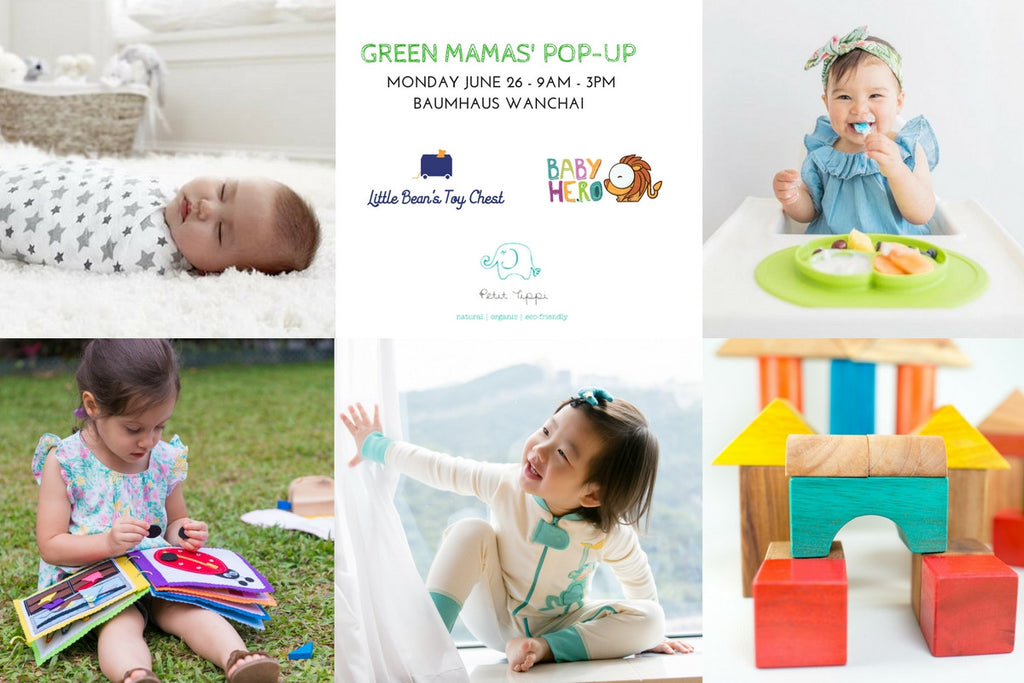 Our first GREEN MAMA'S pop-up - June 26, 2017 at Baumhaus Wan Chai