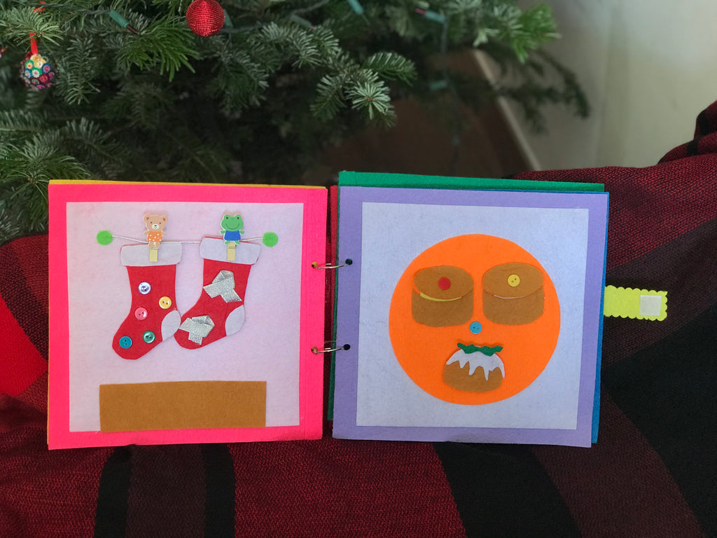 Quiet book DIY kit:  Making a Christmas playbook
