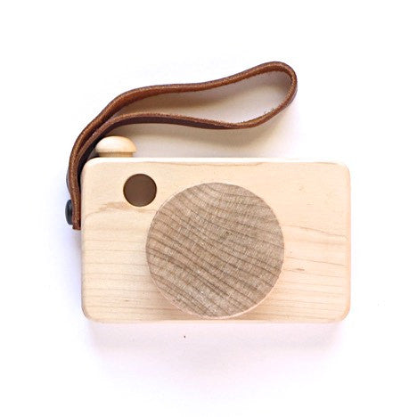 Say cheese! wooden camera