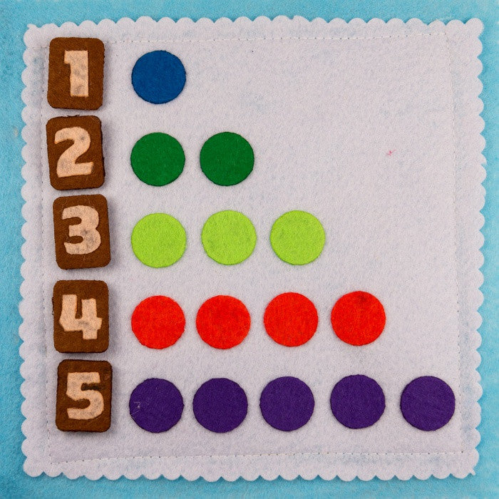 Quiet book - Numbers - Age 2+