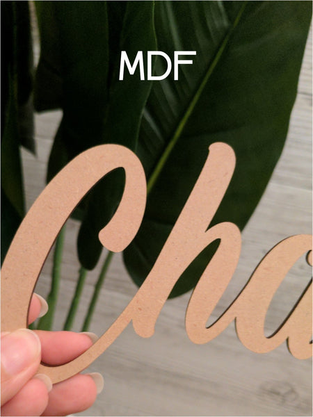 Wooden Custom Name Signs