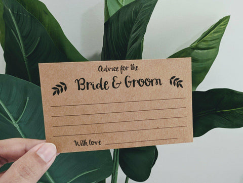 Advice Cards - Bride & Groom