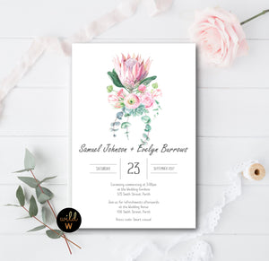 King Protea Invitation Set