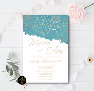 Geometric Invitation Set