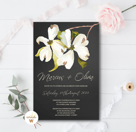 Magnolia Chalkboard Invitation Set