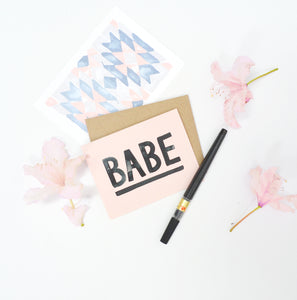 Greeting Card - Babe