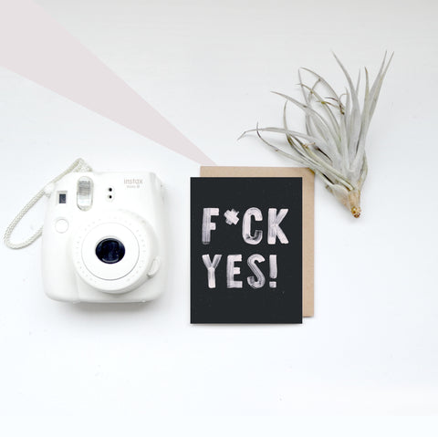 Greeting Card - F*CK YES!