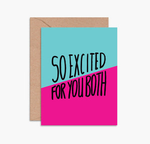 Greeting Card - So Excited For You Both