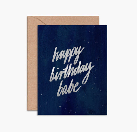 Greeting Card - Happy Birthday Babe