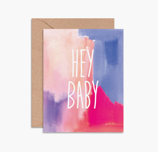 Greeting Card - Hey Baby
