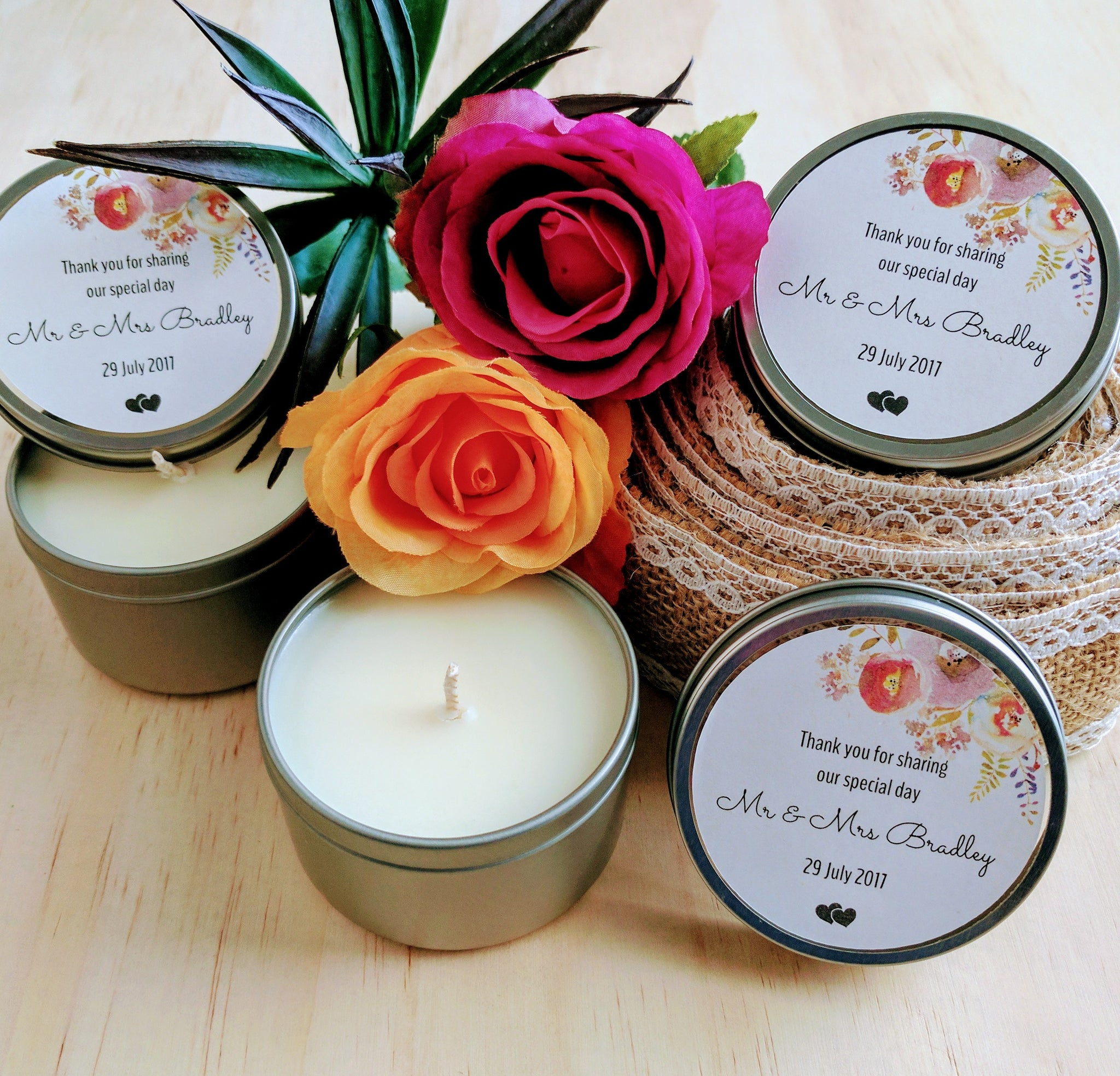 Personalised Soy Candle Tins