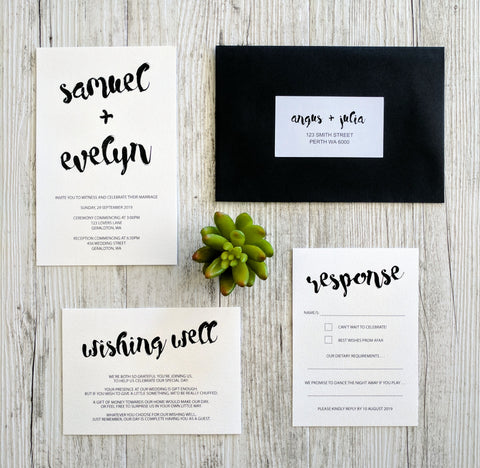 Classically Whimsical Invitation Set