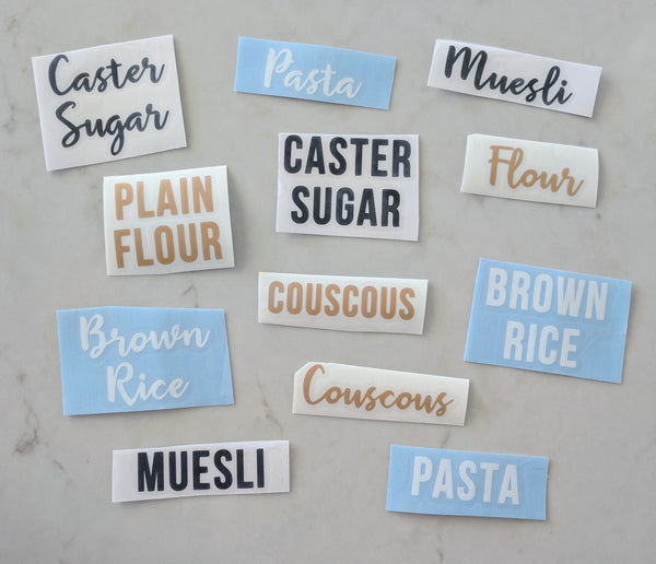 Pantry Labels (Vinyl Decals)