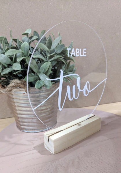 Acrylic Table Numbers - Round