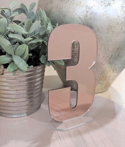 Rose Gold Acrylic Table Numbers