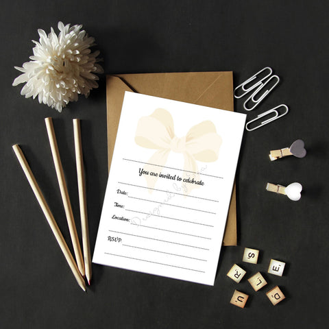 Fill in Invitations - Bow