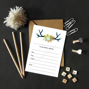 Fill in Invitations - Antlers
