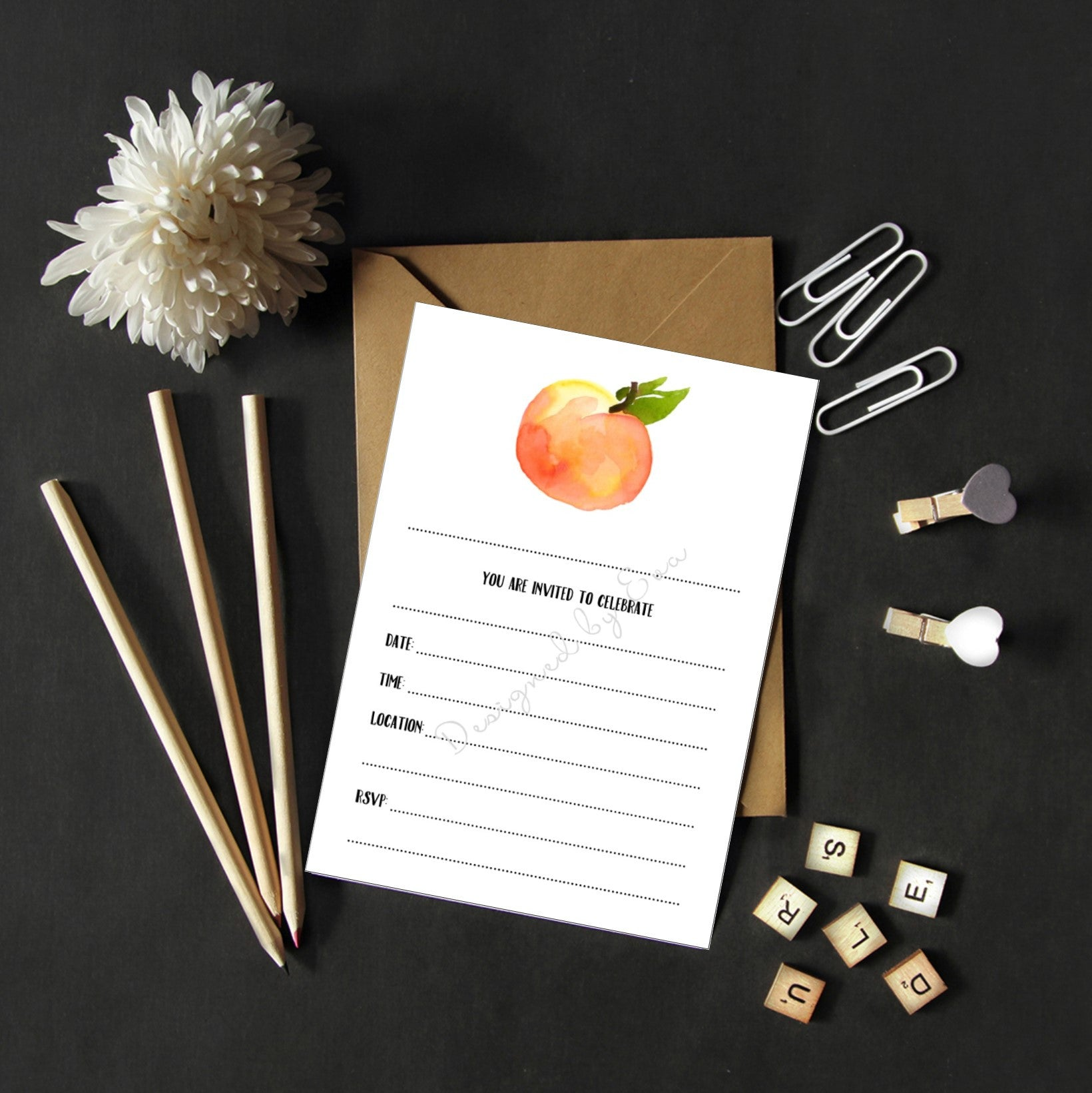 Fill in Invitations - Peach