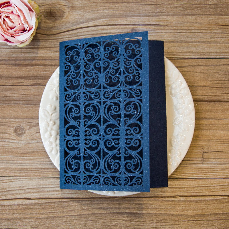 Luxury Gate Tri-fold Laser Cut Invitation