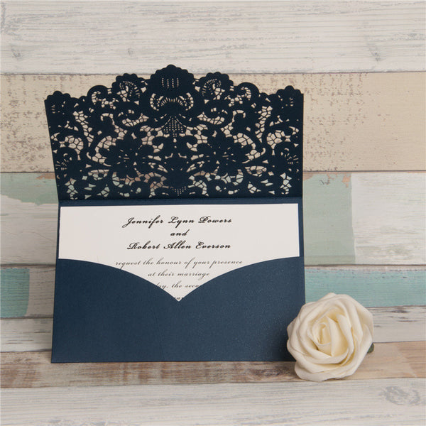 Top Fold Laser Cut Invitation