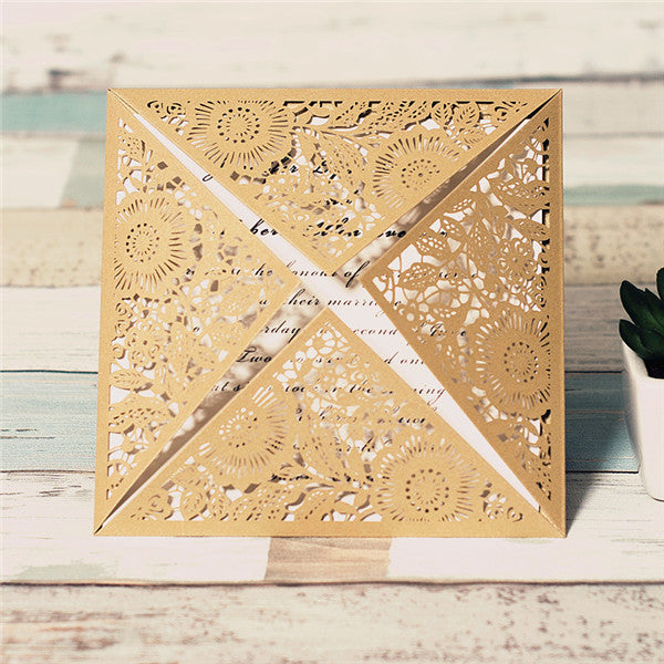 Flowers Laser Cut Invitation