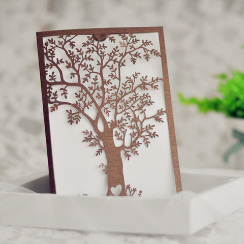 Elegant Tree Laser Cut Invitation