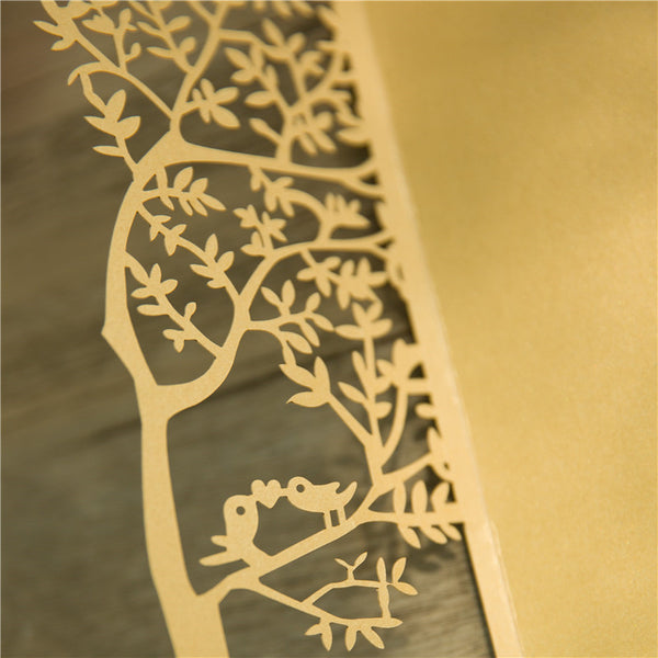 Love Tree Laser Cut Invitation
