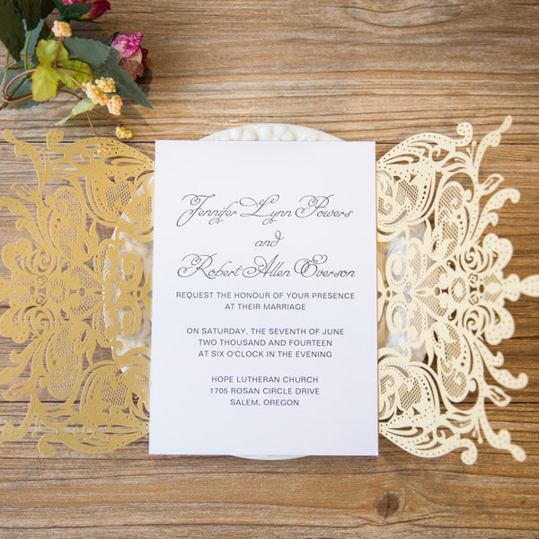 King of Laser Cut Invitation