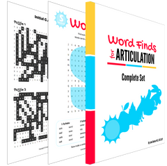 Articulation Word Searches