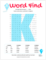 K Word Search