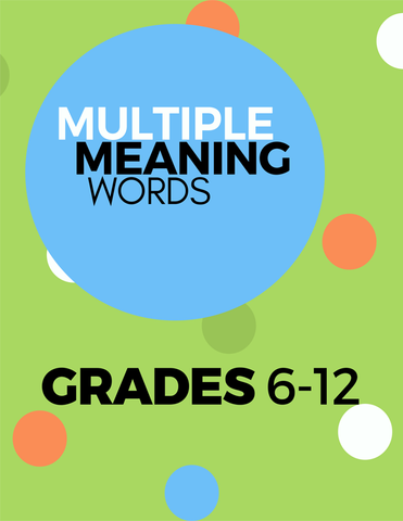 Multiple Meaning Words 6-12 Pack