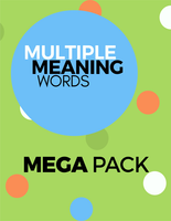 Multiple Meaning Words Mega Pack