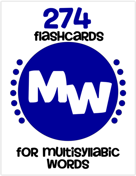 Multi-Syllabic Word Flashcards
