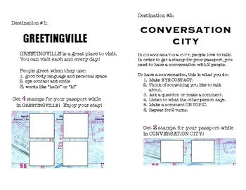 Social Passport: Greetingville/Conversation City