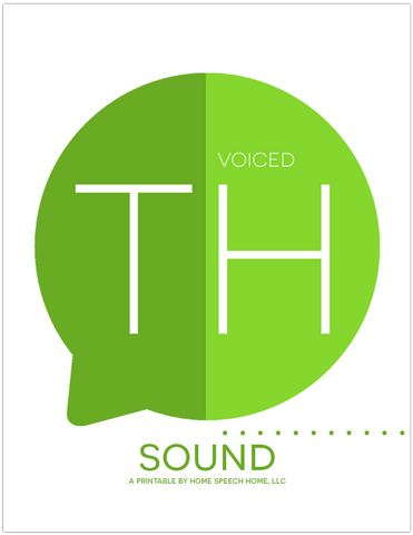 Voiced TH Sound Flashcards