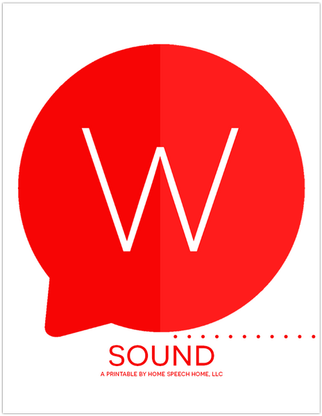W Sound Flashcards