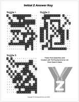 Z Word Search