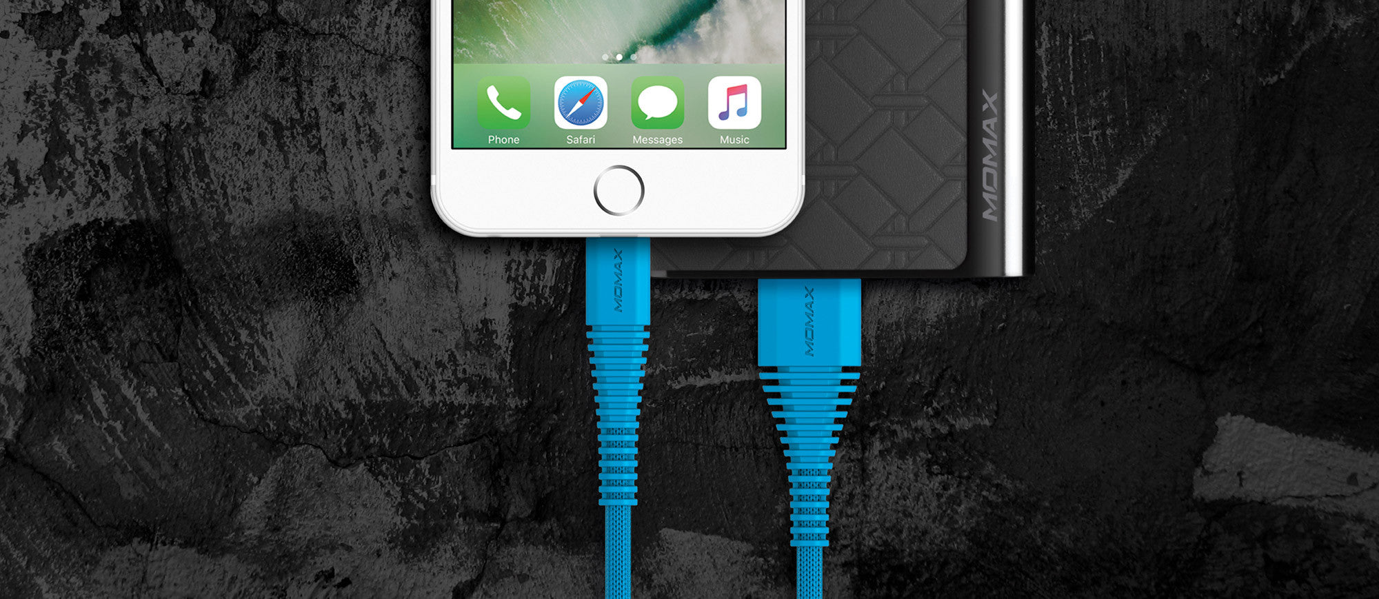 MOMAX Tough-Link Apple MFI Certified 1.2M 2.4A Fast Charging Lightning Cable