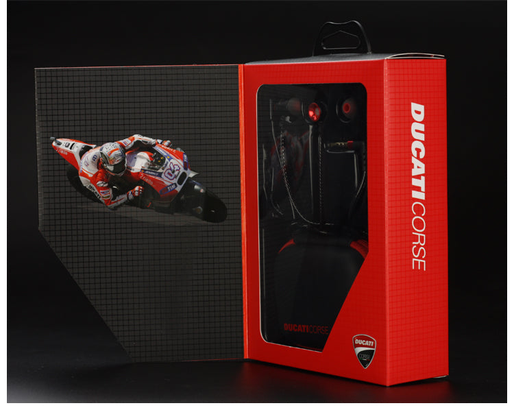 Ducati Corse Desmosedici Series I02 In-Ear Headphone Stereo Headphone w/ Microphone & Remote