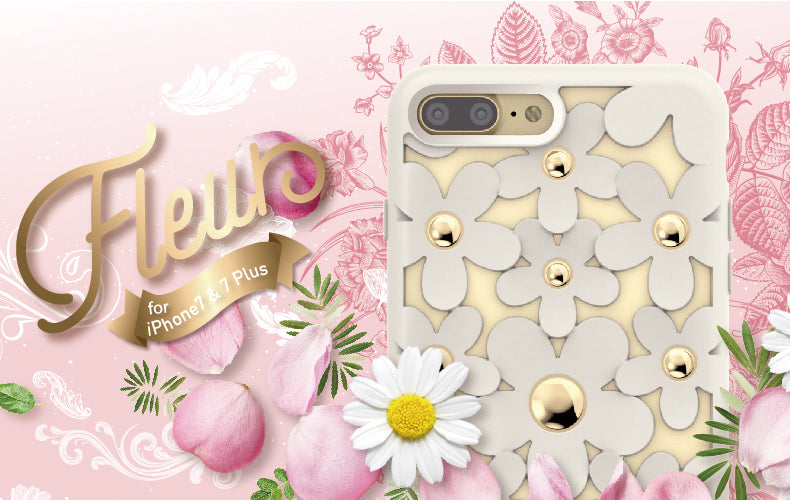 SwitchEasy Fleur 3D Flowers Protective TPU Case w/ Native Touch Buttons for Apple iPhone X/8 Plus/8/7 Plus/7