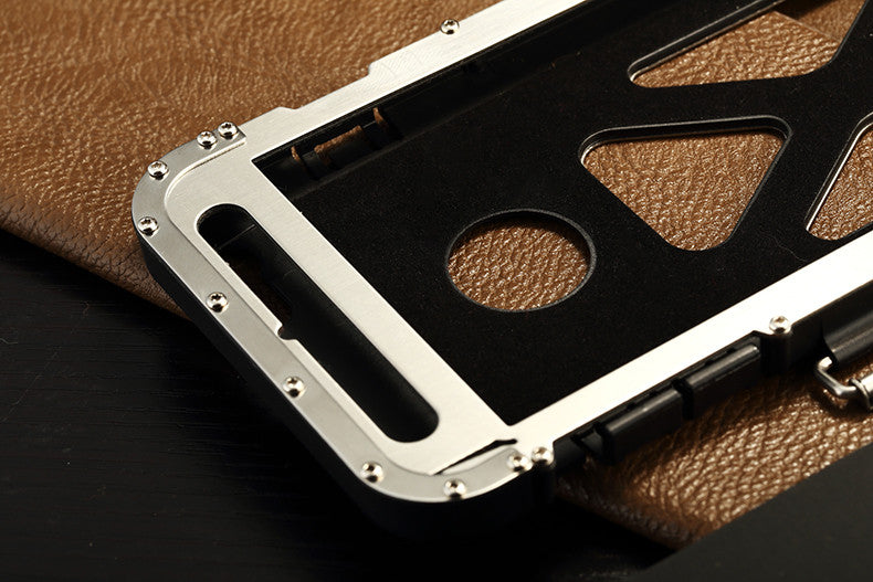 Armor King Iron Man Luxury Shockproof Stainless Steel Aluminum Metal Flip Case Cover for Apple iPhone 6S Plus/6 Plus & iPhone 6