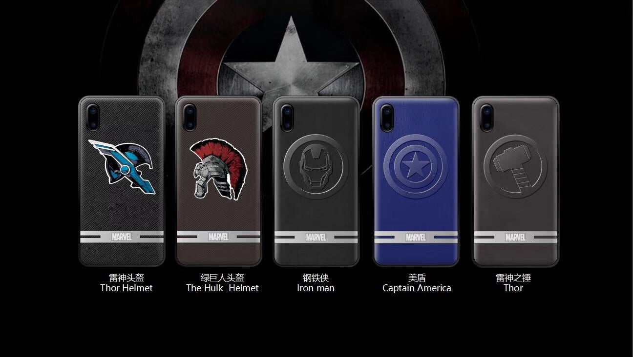 X-Doria Clever Marvel Avengers Clever 3D PU Leather Case Cover for Apple iPhone X