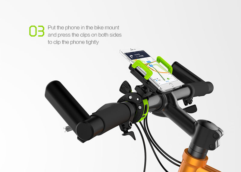 IDMIX M03 Universal Adjustable Bike Mount Handle Bar Cellphone Holder for Smartphones below 6-inch