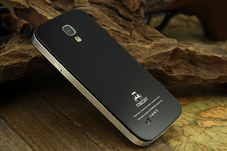 iMatch Aviation Aluminum Alloy Metal Bumper Tempered Glass Back Cover Case for Samsung Galaxy S4
