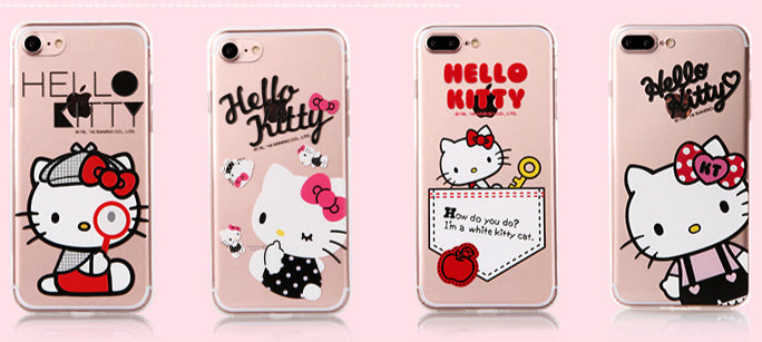 Hello Kitty Spice Slim Transparent PC Cover Case for Apple iPhone 7 Plus & iPhone 7