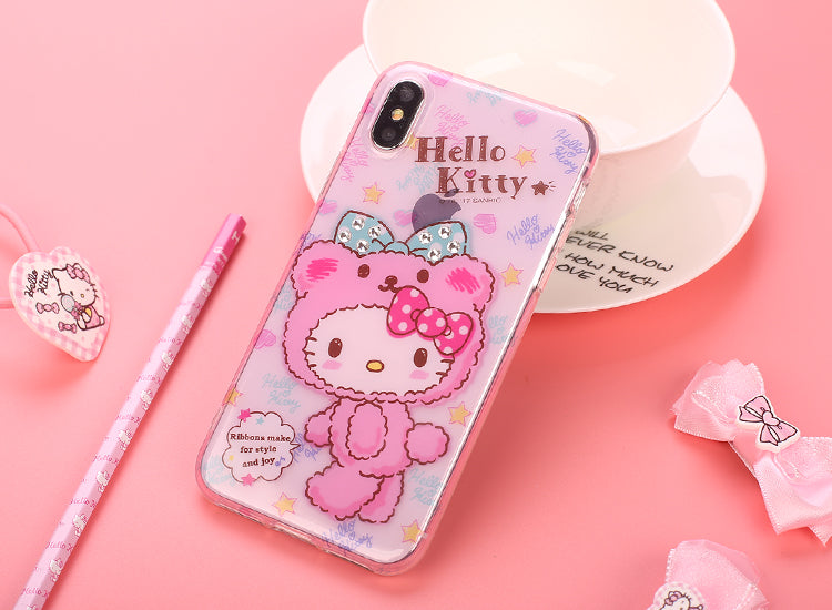 X-Doria Hello Kitty Nifty Bear Swarovski Diamonds Case Cover for Apple iPhone X