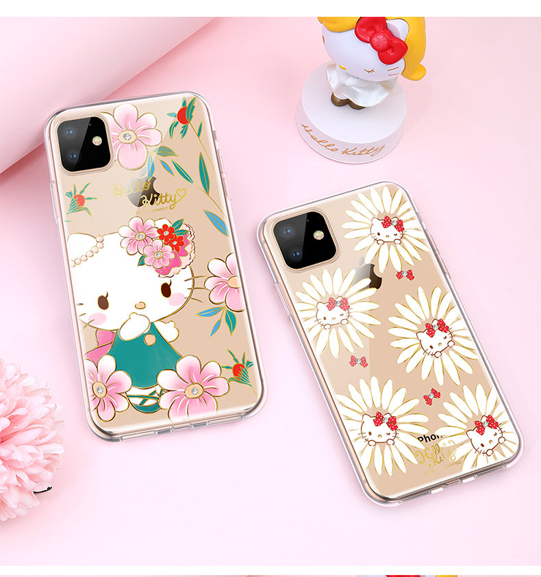 UKA Hello Kitty Luxury Crystal Diamonds Shockproof Back Case Cover for Apple iPhone