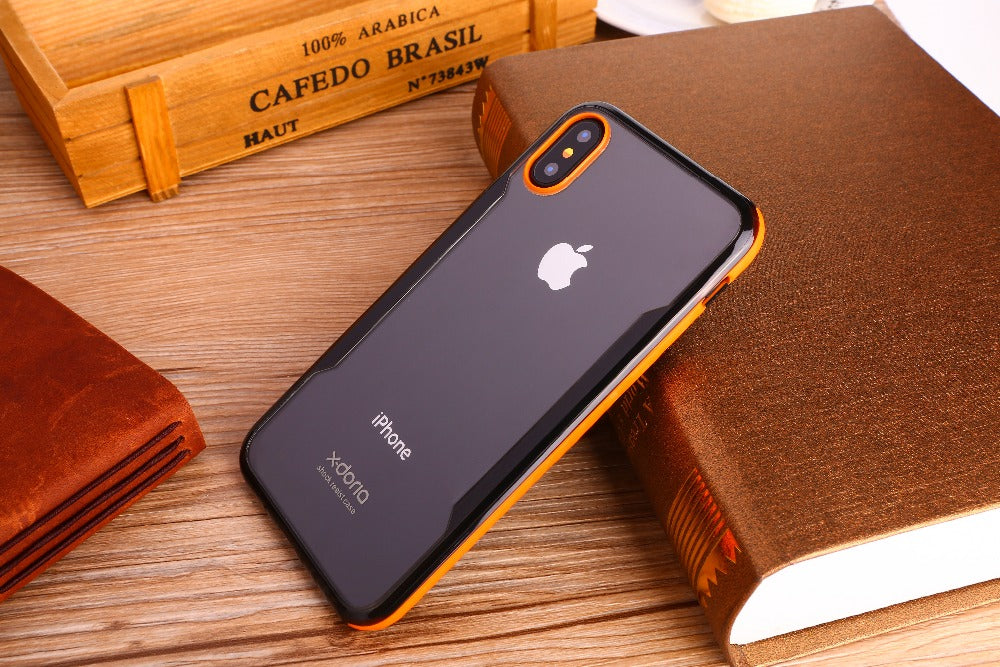 X-Doria Fense Acrylic Back Glass Polycarbonate Protective Case for Apple iPhone X